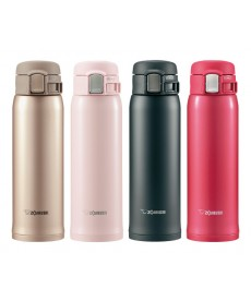 "Zojirushi SM-SA48 ""One Touch Open"" Stainless Steel Vacuum Insulated Water Bottle 480ml"