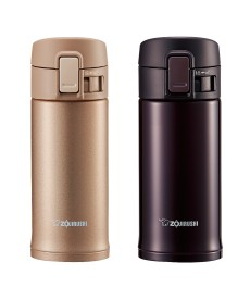 "Zojirushi SM-KC36 ""One Touch Open"" Stainless Steel Vacuum Bottle 360ml"