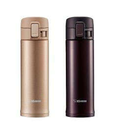"Zojirushi SM-KC48 ""One Touch Open"" Stainless Steel Vacuum Bottle 480ml"