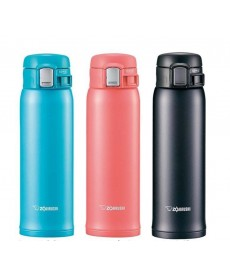 "Zojirushi SM-SC48 ""One Touch Open"" Stainless Steel Vacuum Bottle 480ml"