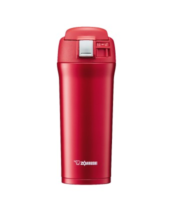 """Zojirushi SM-YAF48-RA """"One Touch Open"""" Stainless Steel Vacuum Bottle 480ml"""