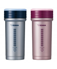 Zojirushi SM-CTE35 Stainless Steel Vacuum Bottle with Tea Leaf Filter and Storage 350ml