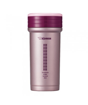 Zojirushi SM-CTE35-PB Stainless Steel Vacuum Bottle with Tea Leaf Filter and Storage 350ml