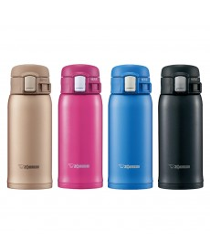 """Zojirushi SM-SD36 """"One Touch Open"""" Stainless Steel Vacuum Bottle 360ml"""