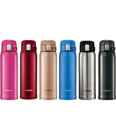 "Zojirushi SM-SD48 ""One Touch Open"" Stainless Steel Vacuum Bottle 480ml"