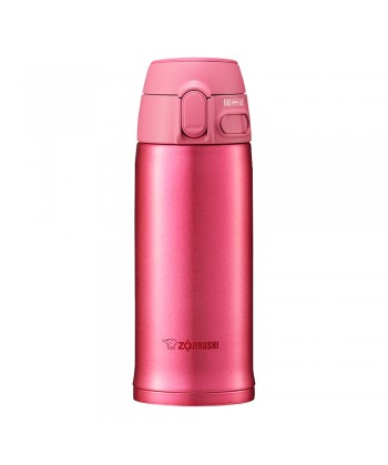"Zojirushi SM-TA36-PA ""One Touch Open"" Stainless Steel Vacuum Bottle 360ml - Pink"