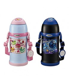 Zojirushi SC-ZT60 Two-Way Stainless Steel Vacuum Bottle for Kids with Straw + Cup attachments 600ml