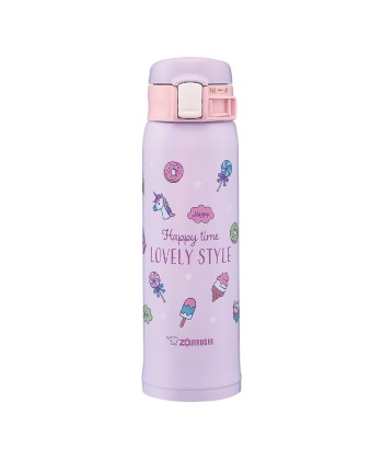 "Zojirushi SM-SG48-VZ ""One Touch Open"" Stainless Steel Vacuum Bottle 480ml - Sweet Purple"